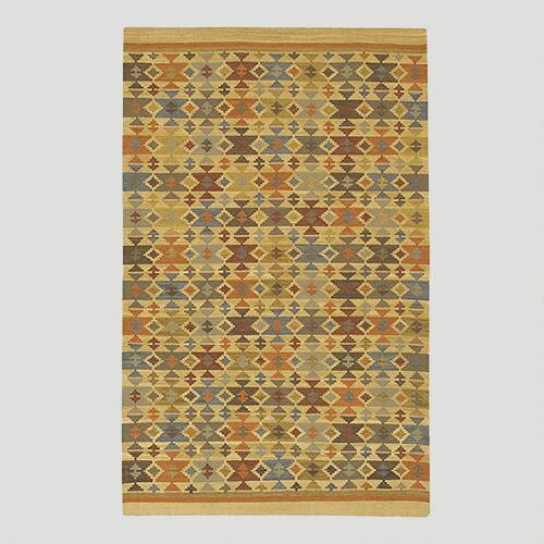 Small Diamond Kilim Wool Rug