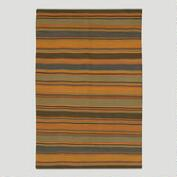 Multi-Stripe Kilim Wool Rug