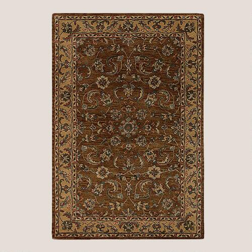 Metro Floral Wool Rug Chocolate