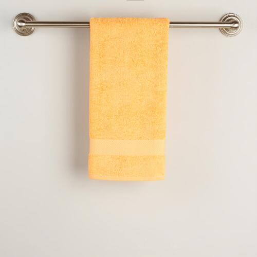 Yellow Cotton Hand Towel