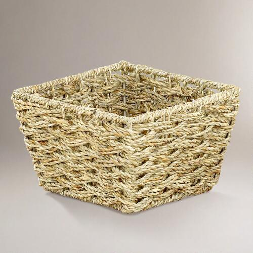 Natural Betty Woven Seagrass Baskets in Small, Set of 2
