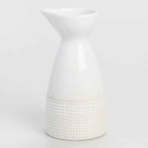 Dotted Porcelain Sake Bottle