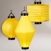 Yellow Battery-Operated Paper Lanterns