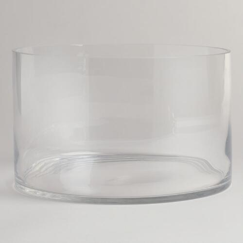Straight-Sided Glass Salad Bowl