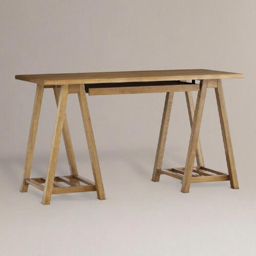 Natural Charles Sawhorse Desk