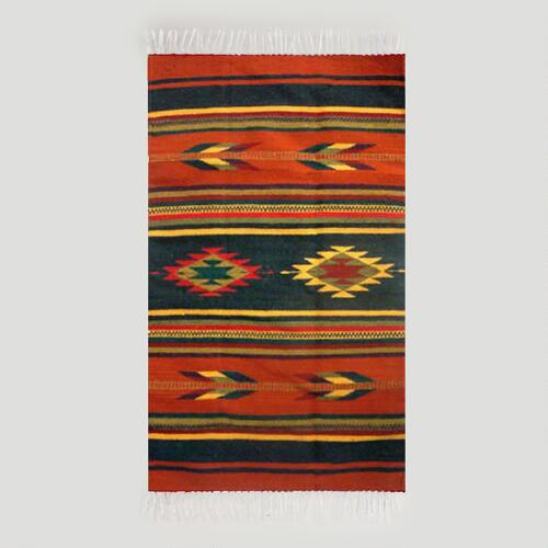 Novica Swift Arrows Zapotec Wool Rug