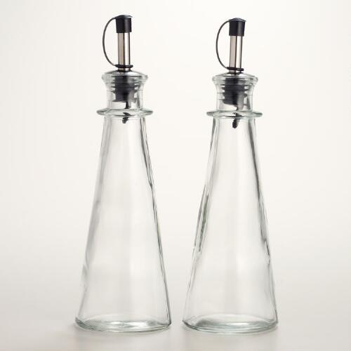 Set of 2 Oil and Vinegar Bottles