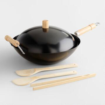 Non-stick Wok 5-Piece Set