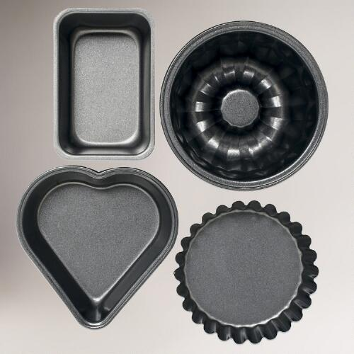 Mini Metal Baking Molds, Sets of 2