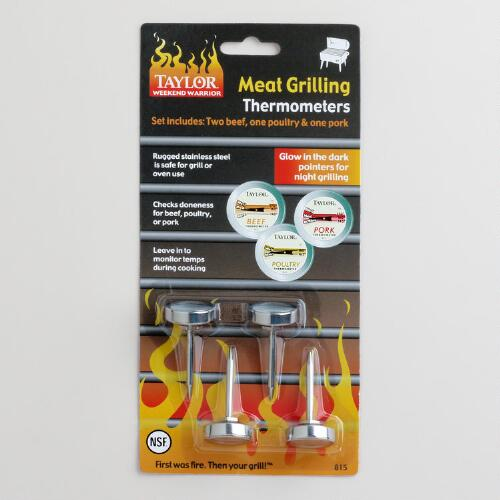 Meat Grilling Thermometers, Set of 4