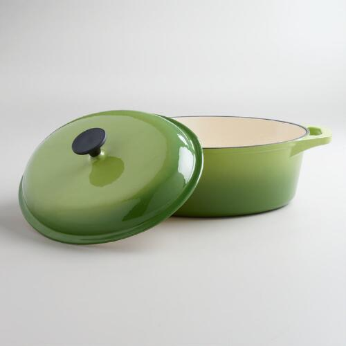 Green Oval Dutch Oven
