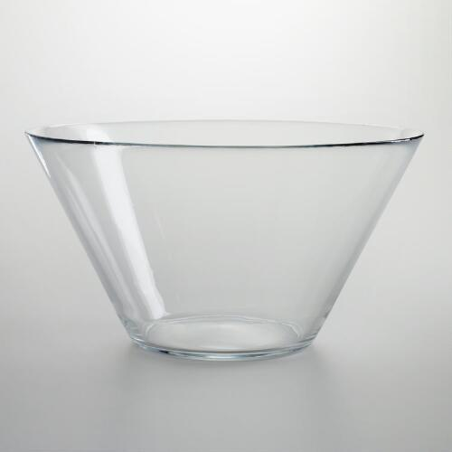 Flared Glass Salad Bowl