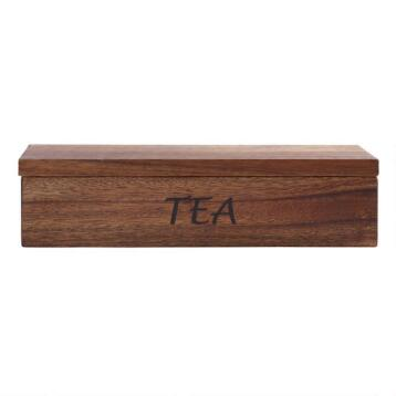 Acacia Wood Teabag Container