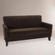 Coffee Monroe Corduroy Loveseat