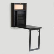 Black Alden Foldout Convertible Desk