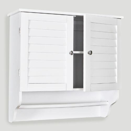 Bathroom Wall Louvered Cabinet