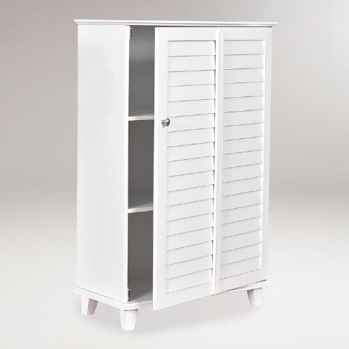 Standing Bathroom Louvered Cabinet