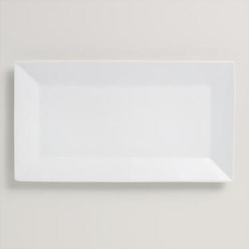 Medium Rimmed Rectangle Platter