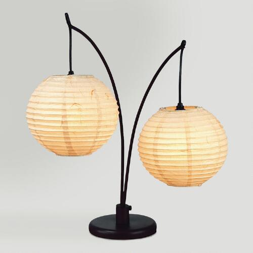 Rotating Spheres Table Lamp