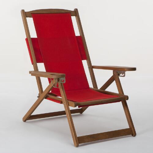 Pompeian Red Five-Position Chair Canvas