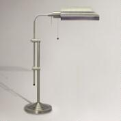 Chemist's Table Lamp, Brushed Steel