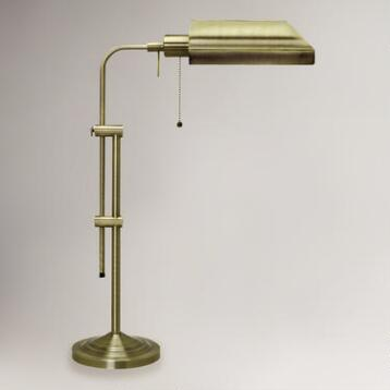 Chemist's Table Lamp, Antique Brass