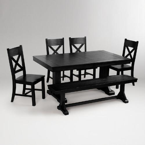 Black Verona Dining Set