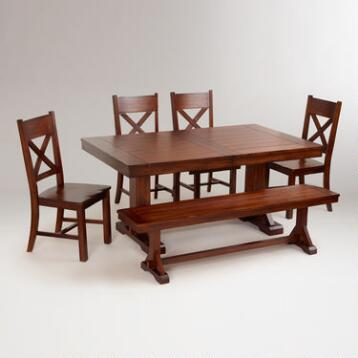 Mahogany Verona 6-Piece Dining Set