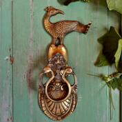 Peacock Brass Door Knocker