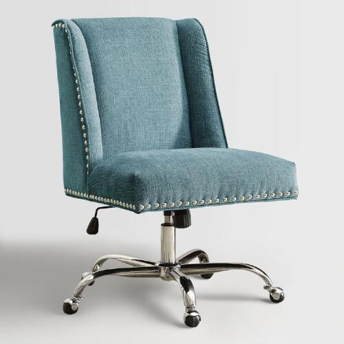 aqua heathman upholstered office chair world market 87869