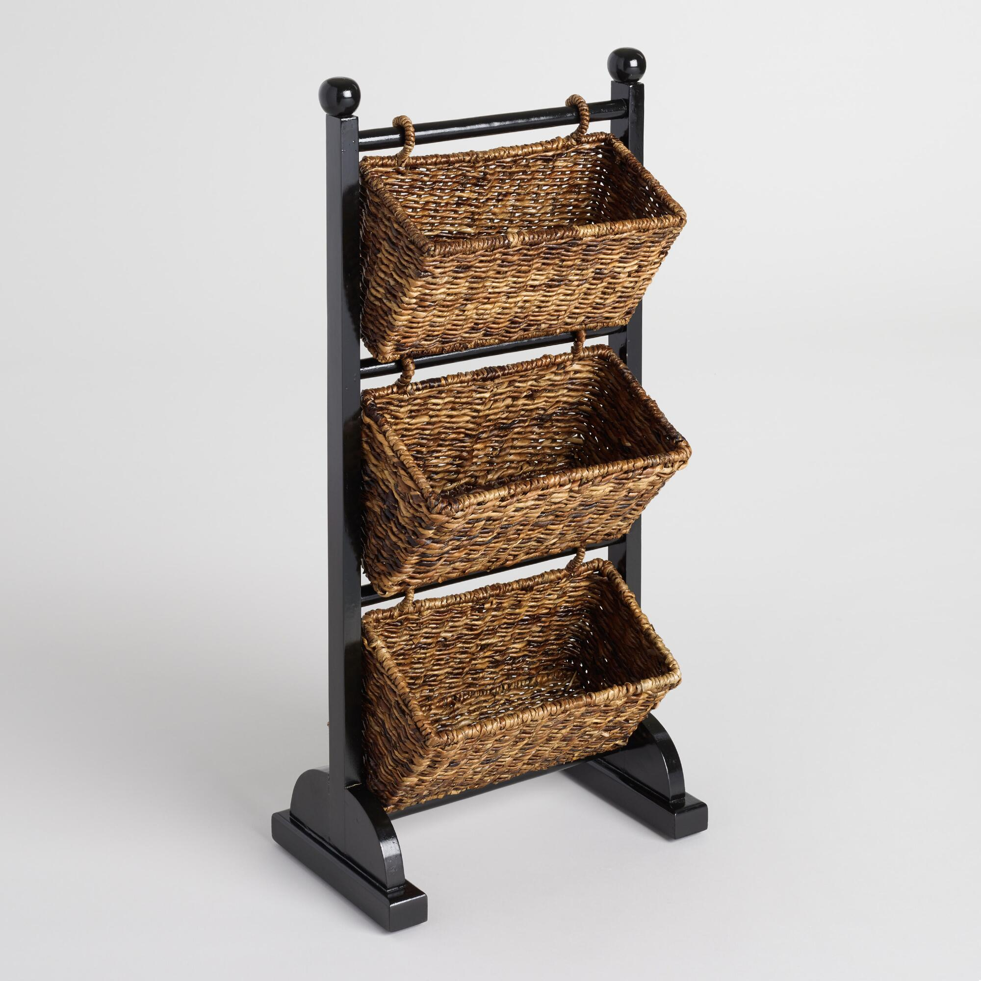 3-tier Madras Cubby: Brown - Natural Fiber By World Market
