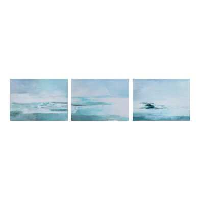 Ocean Exhale Triptych Canvas Wall Art 3 Piece