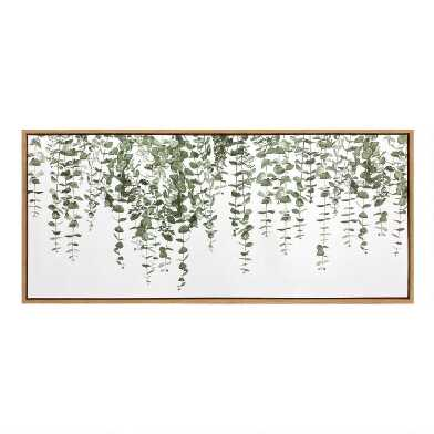 Greenery Vines Framed Canvas Wall Art