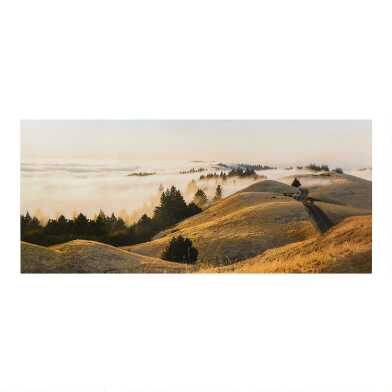 Rolling Fog Hilltops Canvas Wall Art