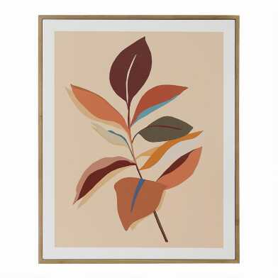 Peachy Ficus By Bella Gomez Framed Wall Art