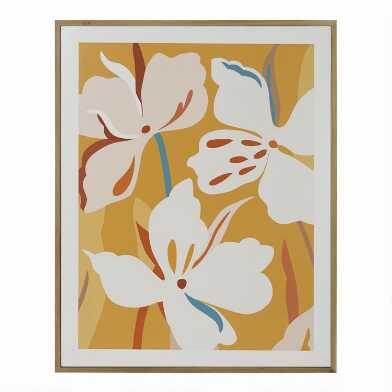 Yellow Flower Art By Bella Gomez Framed Wall Art