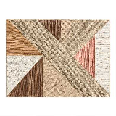 Natural Fiber Geometric Mixed Media Wall Decor