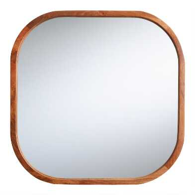 Rounded Mango Wood Aiden Mirror