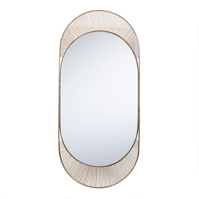 Oval Gold Wire Riya Mirror