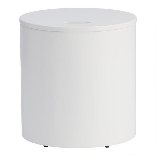 White Elliot Kids Storage Stool