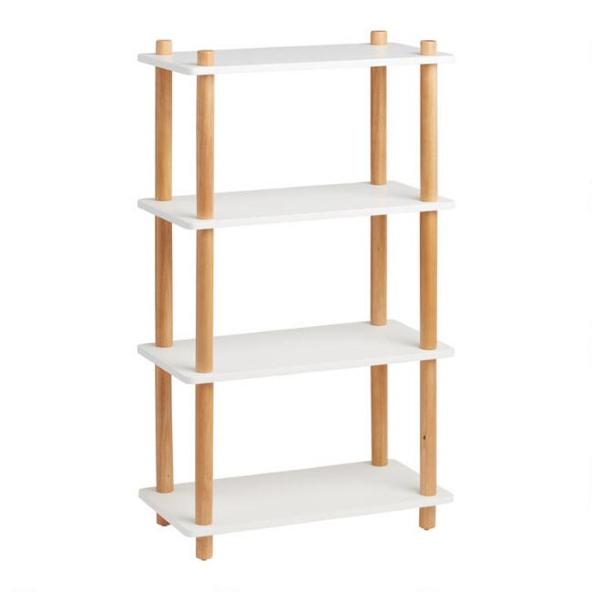 White and Natural Elliot Bookshelf