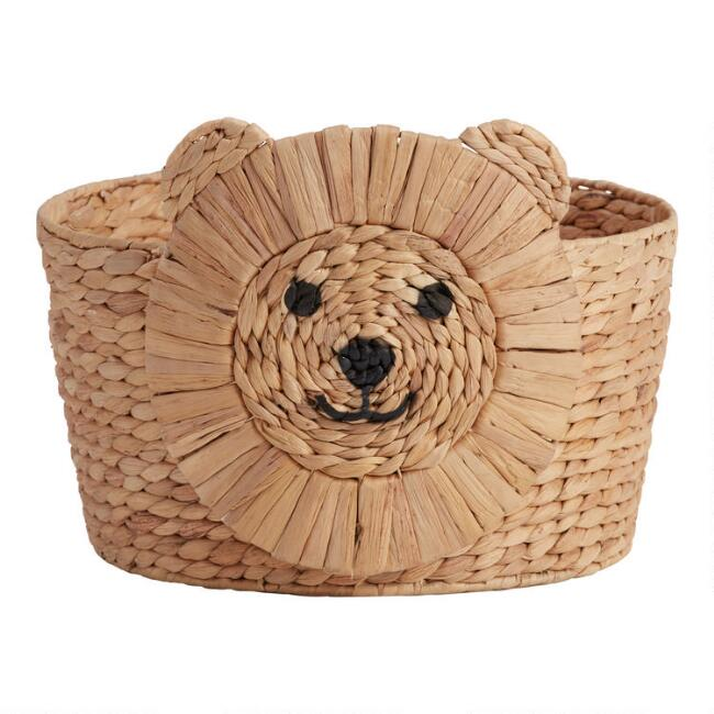 Natural Hyacinth Lion Leon Basket