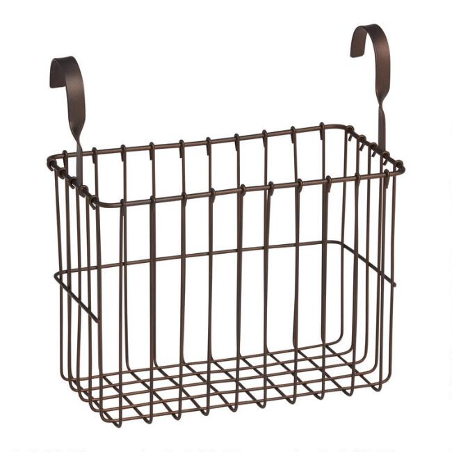 Espresso Metal Wire Regan Hanging Basket