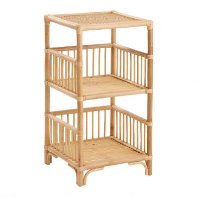 Natural Rattan Shelton Storage Shelf