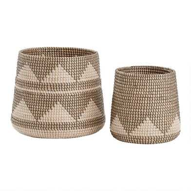 Black and White Triangle Seagrass Nigel Basket