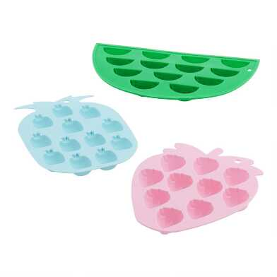 Fruit Shaped Silicone Ice Tray Set of 3