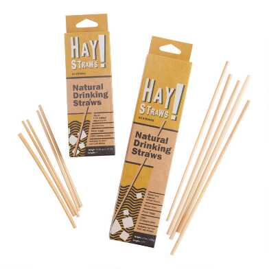 Hay Straws Natural Drinking Straws 50 Pack