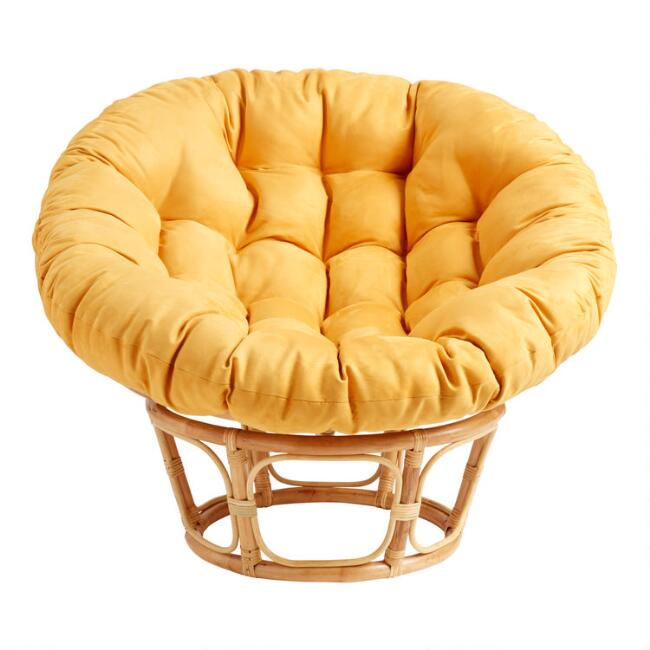 Golden Honey Microsuede Papasan Chair Cushion