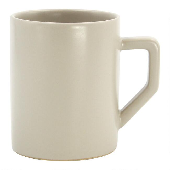 Stone Gray Ceramic Coffee Mug