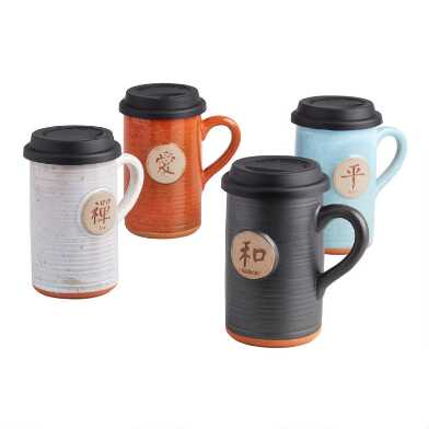 Chinese Sentiment Ceramic To Go Mug Collection